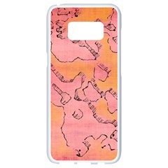 Fantasy Dungeon Maps 6 Samsung Galaxy S8 White Seamless Case by MoreColorsinLife