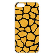 Skin1 Black Marble & Orange Colored Pencil Apple Iphone 5 Seamless Case (white) by trendistuff