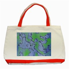 Fantasy Dungeon Maps 5 Classic Tote Bag (red)