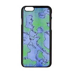 Fantasy Dungeon Maps 5 Apple Iphone 6/6s Black Enamel Case by MoreColorsinLife