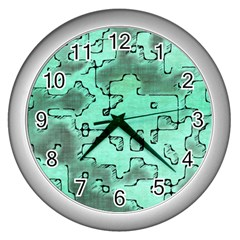 Fantasy Dungeon Maps 7 Wall Clocks (silver)  by MoreColorsinLife