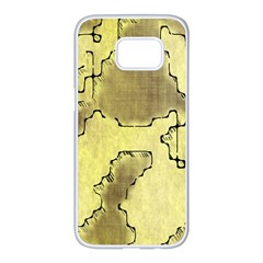 Fantasy Dungeon Maps 8 Samsung Galaxy S7 Edge White Seamless Case by MoreColorsinLife