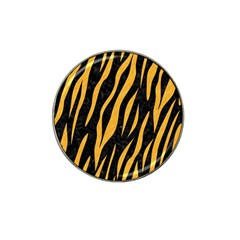 Skin3 Black Marble & Orange Colored Pencil Hat Clip Ball Marker (4 Pack) by trendistuff
