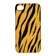 Skin3 Black Marble & Orange Colored Pencil (r) Apple Iphone 4/4s Hardshell Case With Stand by trendistuff