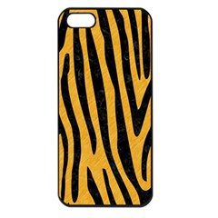 Skin4 Black Marble & Orange Colored Pencil Apple Iphone 5 Seamless Case (black) by trendistuff