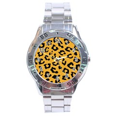 Skin5 Black Marble & Orange Colored Pencil Stainless Steel Analogue Watch by trendistuff