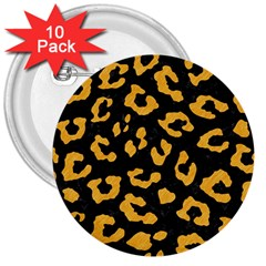 Skin5 Black Marble & Orange Colored Pencil (r) 3  Buttons (10 Pack)  by trendistuff