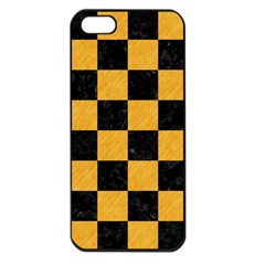 Square1 Black Marble & Orange Colored Pencil Apple Iphone 5 Seamless Case (black) by trendistuff
