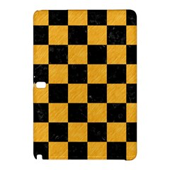 Square1 Black Marble & Orange Colored Pencil Samsung Galaxy Tab Pro 12 2 Hardshell Case by trendistuff