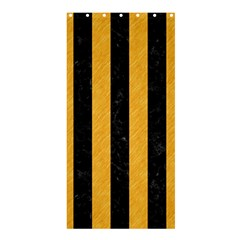 Stripes1 Black Marble & Orange Colored Pencil Shower Curtain 36  X 72  (stall)  by trendistuff