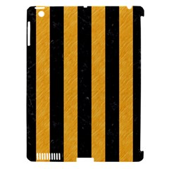 Stripes1 Black Marble & Orange Colored Pencil Apple Ipad 3/4 Hardshell Case (compatible With Smart Cover) by trendistuff