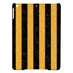 Stripes1 Black Marble & Orange Colored Pencil Ipad Air Hardshell Cases by trendistuff
