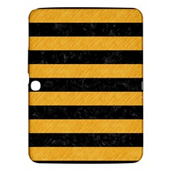 Stripes2 Black Marble & Orange Colored Pencil Samsung Galaxy Tab 3 (10 1 ) P5200 Hardshell Case  by trendistuff