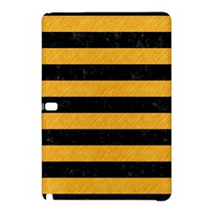 Stripes2 Black Marble & Orange Colored Pencil Samsung Galaxy Tab Pro 10 1 Hardshell Case by trendistuff