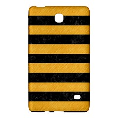 Stripes2 Black Marble & Orange Colored Pencil Samsung Galaxy Tab 4 (8 ) Hardshell Case  by trendistuff