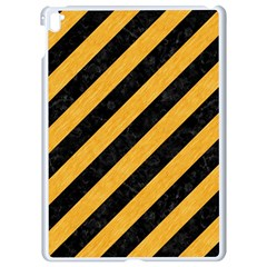 Stripes3 Black Marble & Orange Colored Pencil Apple Ipad Pro 9 7   White Seamless Case by trendistuff