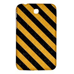Stripes3 Black Marble & Orange Colored Pencil (r) Samsung Galaxy Tab 3 (7 ) P3200 Hardshell Case  by trendistuff