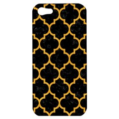 Tile1 Black Marble & Orange Colored Pencil Apple Iphone 5 Hardshell Case by trendistuff
