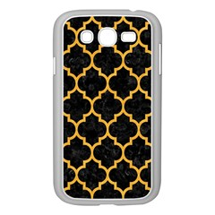 Tile1 Black Marble & Orange Colored Pencil Samsung Galaxy Grand Duos I9082 Case (white) by trendistuff