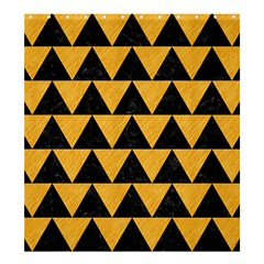 Triangle2 Black Marble & Orange Colored Pencil Shower Curtain 66  X 72  (large)  by trendistuff