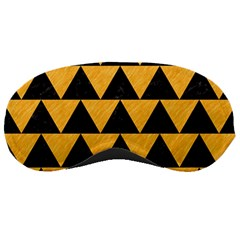 Triangle2 Black Marble & Orange Colored Pencil Sleeping Masks by trendistuff