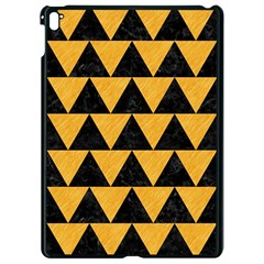 Triangle2 Black Marble & Orange Colored Pencil Apple Ipad Pro 9 7   Black Seamless Case