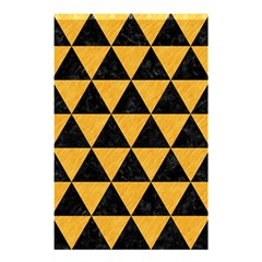 Triangle3 Black Marble & Orange Colored Pencil Shower Curtain 48  X 72  (small)  by trendistuff