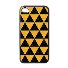 Triangle3 Black Marble & Orange Colored Pencil Apple Iphone 4 Case (black) by trendistuff