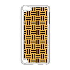 Woven1 Black Marble & Orange Colored Pencil (r) Apple Ipod Touch 5 Case (white) by trendistuff