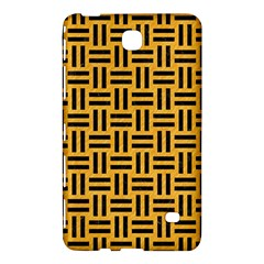Woven1 Black Marble & Orange Colored Pencil (r) Samsung Galaxy Tab 4 (7 ) Hardshell Case  by trendistuff