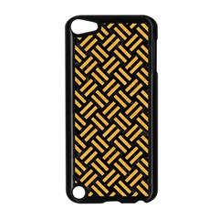 Woven2 Black Marble & Orange Colored Pencil Apple Ipod Touch 5 Case (black) by trendistuff