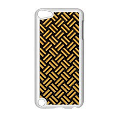 Woven2 Black Marble & Orange Colored Pencil Apple Ipod Touch 5 Case (white) by trendistuff
