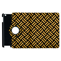 Woven2 Black Marble & Orange Colored Pencil Apple Ipad 3/4 Flip 360 Case by trendistuff