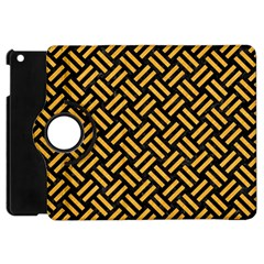 Woven2 Black Marble & Orange Colored Pencil Apple Ipad Mini Flip 360 Case by trendistuff