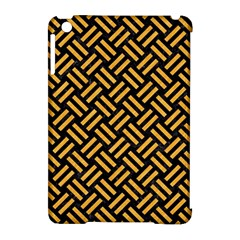 Woven2 Black Marble & Orange Colored Pencil Apple Ipad Mini Hardshell Case (compatible With Smart Cover) by trendistuff
