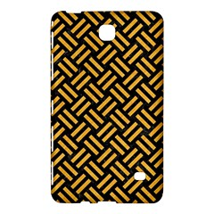 Woven2 Black Marble & Orange Colored Pencil Samsung Galaxy Tab 4 (8 ) Hardshell Case  by trendistuff