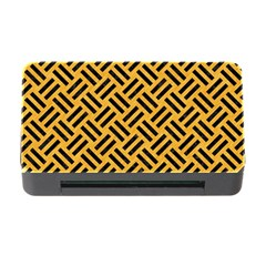 Woven2 Black Marble & Orange Colored Pencil (r) Memory Card Reader With Cf