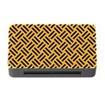 WOVEN2 BLACK MARBLE & ORANGE COLORED PENCIL (R) Memory Card Reader with CF Front