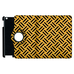 Woven2 Black Marble & Orange Colored Pencil (r) Apple Ipad 3/4 Flip 360 Case by trendistuff
