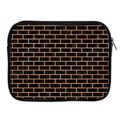 Brick1 Black Marble & Orange Watercolor (r) Apple Ipad 2/3/4 Zipper Cases by trendistuff