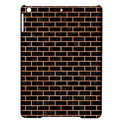 Brick1 Black Marble & Orange Watercolor (r) Ipad Air Hardshell Cases by trendistuff