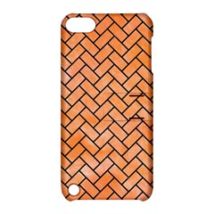 Brick2 Black Marble & Orange Watercolor Apple Ipod Touch 5 Hardshell Case With Stand by trendistuff
