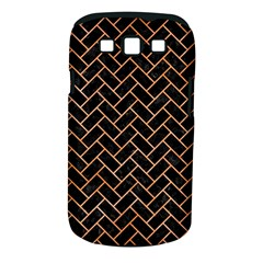 Brick2 Black Marble & Orange Watercolor (r) Samsung Galaxy S Iii Classic Hardshell Case (pc+silicone) by trendistuff