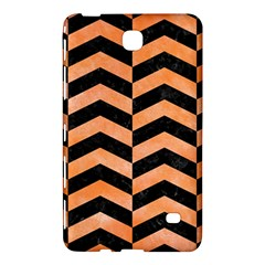 Chevron2 Black Marble & Orange Watercolor Samsung Galaxy Tab 4 (8 ) Hardshell Case  by trendistuff
