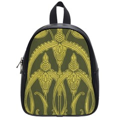 Green Floral Art Nouveau School Bag (small) by 8fugoso