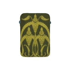 Green Floral Art Nouveau Apple Ipad Mini Protective Soft Cases by 8fugoso