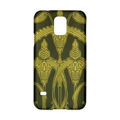 Green Floral Art Nouveau Samsung Galaxy S5 Hardshell Case  by 8fugoso