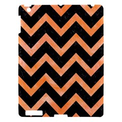 Chevron9 Black Marble & Orange Watercolor (r) Apple Ipad 3/4 Hardshell Case