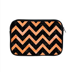 Chevron9 Black Marble & Orange Watercolor (r) Apple Macbook Pro 15  Zipper Case