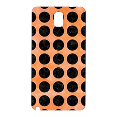 Circles1 Black Marble & Orange Watercolor Samsung Galaxy Note 3 N9005 Hardshell Back Case